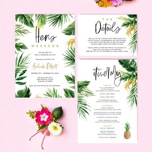 Baby Shower Instant Download 18x24 A2 /& A1 TROP01 Welcome Party Sign Board Tropical Leaf 24x36 Bachelorette Party Editable Template