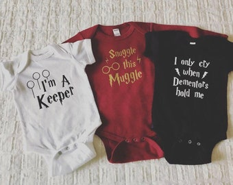 80294fbffdd682 Harry Potter Baby Onesie, Choose from three different styles