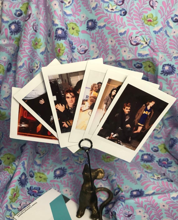 riverdale cast behind the scene polaroid mini prints set of | etsy