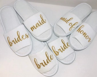 802a9284c8da BRIDESMAID SLIPPERS - PERSONALIZED Slippers