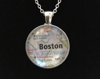 Custom Made Map Pendant Necklace