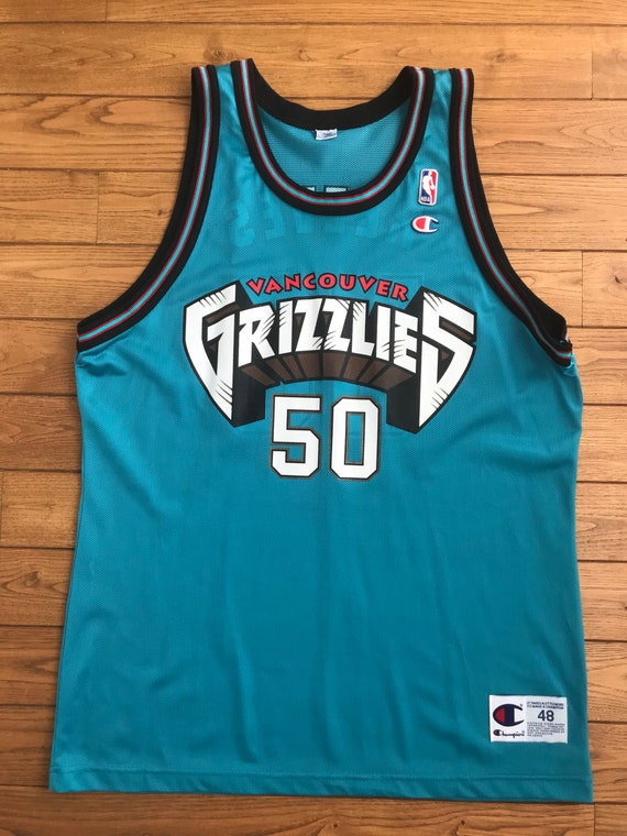 Bryant Reeves Rookie Champion Vancouver Grizzlies Size 48  e9e10eff9