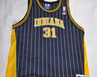 Vintage Indiana Pacers 90's Reggie Miller Champion NBA Basketball Jersey