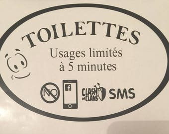 Limited to 5 min :-) toilet stickers
