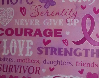 Breast Cancer Awareness Wooden Wall Hanging