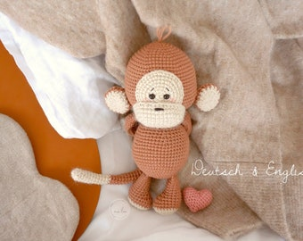 AMIGURUMI Pattern Monkey *Olive* by ma'lea / PDF - download Deutsch & English