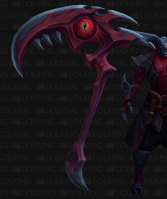 Kayn S Scythe Rhaast Darkin Version Prop Blueprint Etsy
