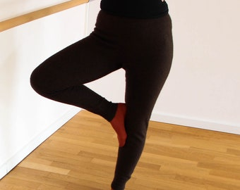 Pure YAK down leggings, pants, Organic Brown Color, Warm, Cozy and eco-friendly Wool Expierence,