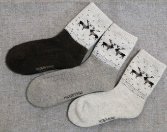 Thick Woolen Socks. 100%  Mongolian Sheep Wool, Unisex, Comfortable, Not itchy, non pilling and Soft. Free dispatch from Switzerland