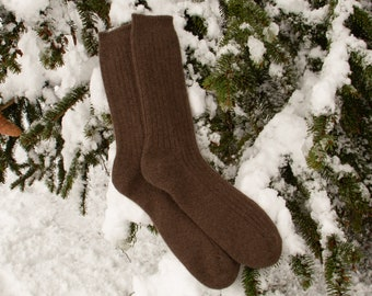Natural Yak Wool Socks, Fluffy, Soft, and Pure Yak Down socks for her and for him. Ready to ship free worldwide from Switzerland