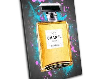 Chanel No 5 Art Canvas Print - Abstract Art - Wall Art - Framed Print - Ready To Hang