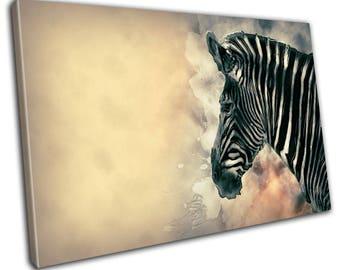 Zebra Animal Art Canvas Print - Abstract Art - Wall Art - Framed Print - Ready To Hang