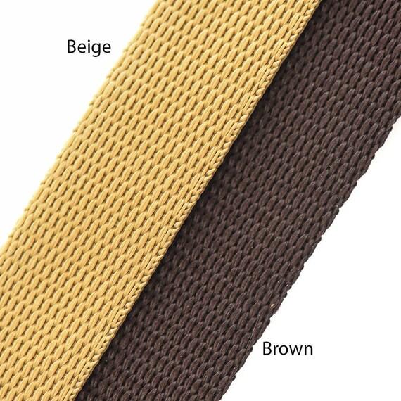 "5 meter x 25mm Polypropylene 1/"" Webbing Strap Brown"