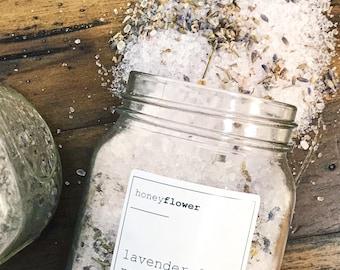 Lavender & Rose Bath Salts | Bath soak | Moisturizing and calming