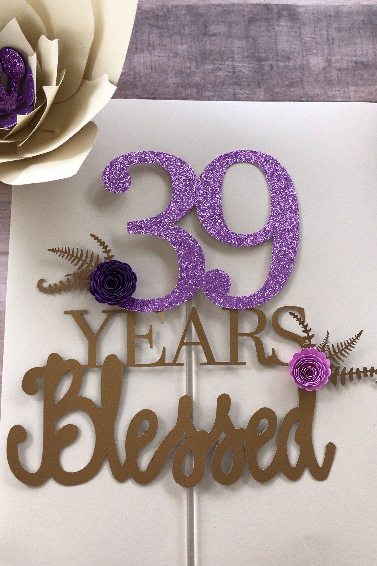 39th Birthday Cake Topper
