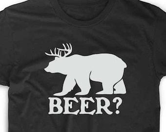 e72a60e73 Beer T Shirt Custom Geek Nerd Gamer Funny Unique Fun Deer Always Novelty Sunny  Bear