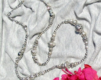 Silver Treasure Necklace - beautiful beaded jewelry