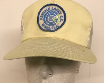 Vintage Kendall Lakes CC Miami Florida Mesh Trucker Hat Snapback Golf 7e871cd43084