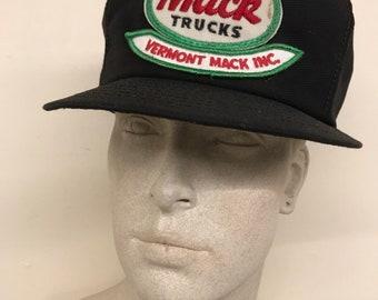 Vintage Trucker Hat - VT Mack Trucks Patch Bulldog Mesh Snapback dde52c23ee2