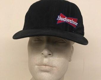 e36926a13f800 Vintage Black Budweiser Throwback Baseball Hat   Snapback (1994)