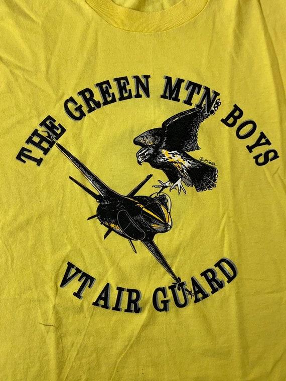 9f02299dc806c Vintage 50/50 T Shirt - Green Mountain Boys VT Air Guard / Yellow XL