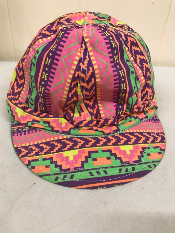 Vintage Neon Day Glo Throwback Hat / Forney Indust