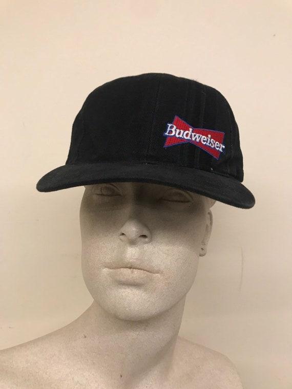 Vintage Black Budweiser Throwback Baseball Hat   Snapback  855b42a9513d
