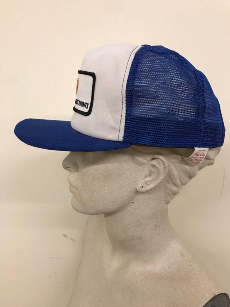 5a10fa92959be4 Vintage Trucker Hat Patch Pratt Lambert Paints / Blue White | Etsy