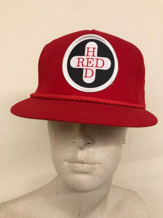 Vintage Trucker Hat - Patch Red Hed / Red White Sn
