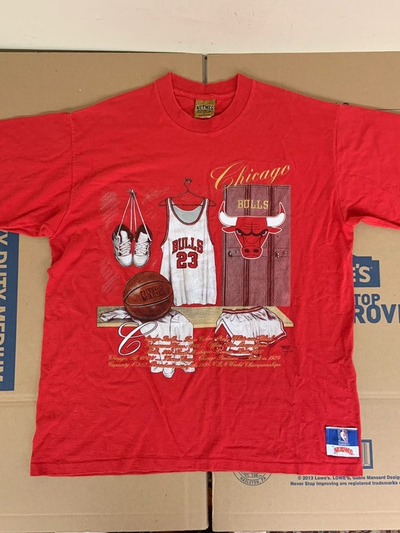 Vintage Nutmeg Chicago Bulls T Shirt / Adult L Loc