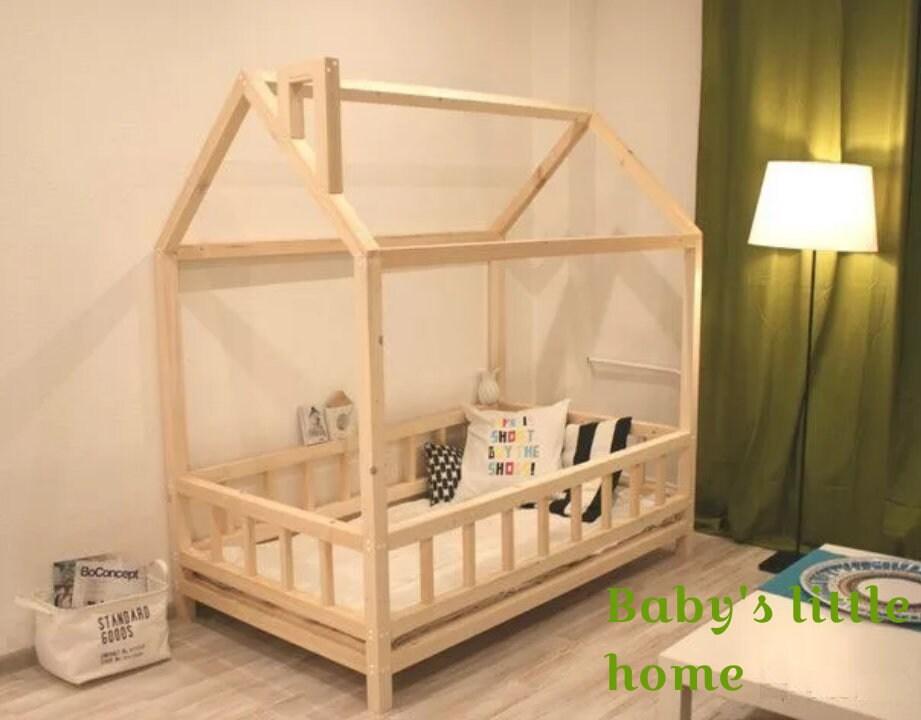 Kleinkind Bett Montessori Bett Haus Bett Holz Baby Möbel Kind | Etsy