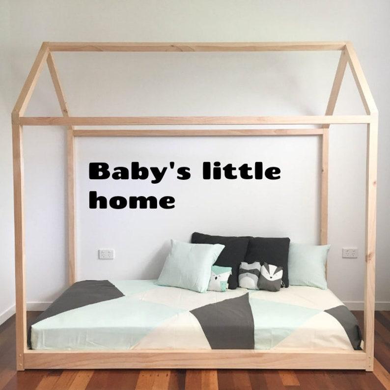 Huis Bed Peuter.Peuter Bed Montessori Bed Huis Bed Frame Kinderen Kinderkamer Etsy