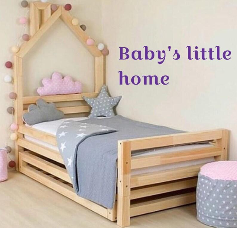 Huis Bed Peuter.Peuter Bed Montessori Bed Huis Bed Houten Baby Jongen Kwekerij Etsy