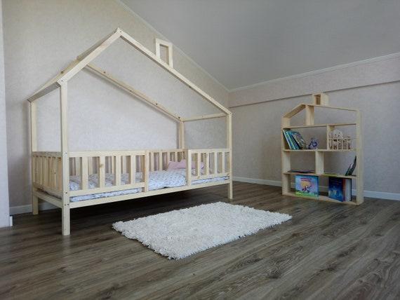 kleinkind bett montessori bett haus bett kleinkind zuhause etsy. Black Bedroom Furniture Sets. Home Design Ideas