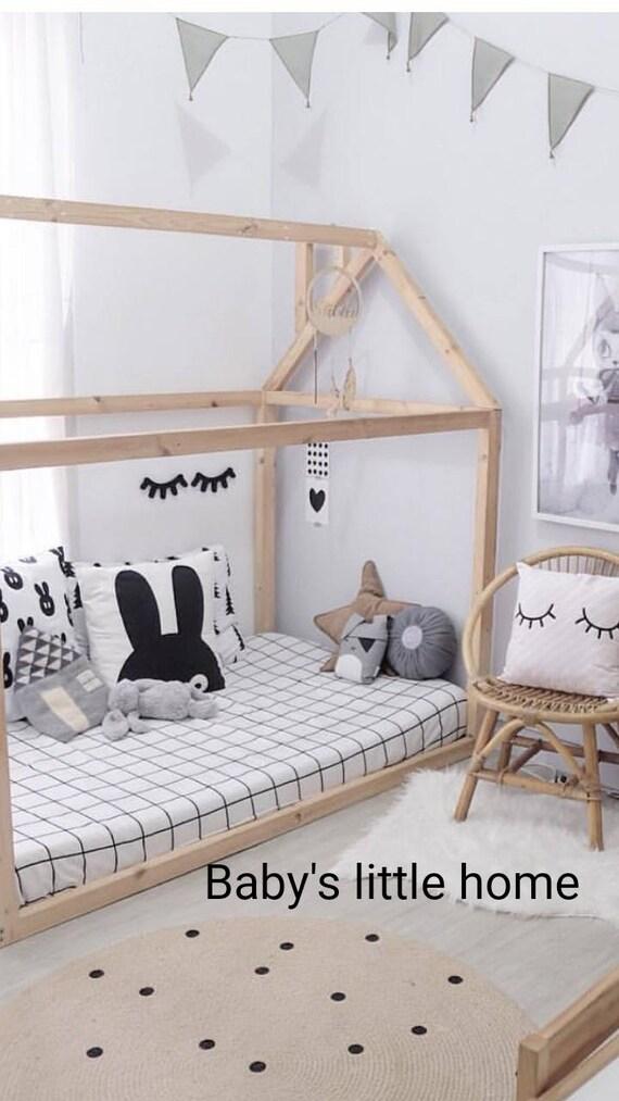 Kleinkind Bett Montessori Bett Haus Holz Baby Möbel Kind