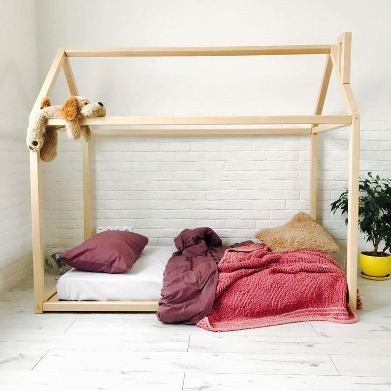 Huis Bed Peuter.Peuter Bed Montessori Bed Huis Bed Houten Meubilair Kid Etsy