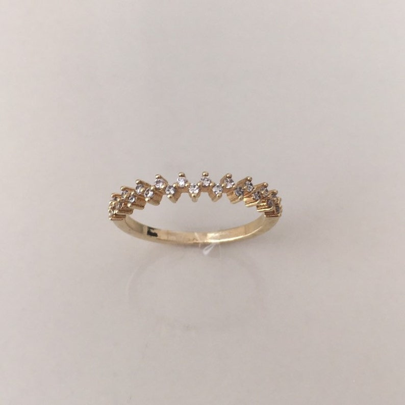 thin ring band tiny diamond band Eternity diamond band ring delicate band size 8 ring dainty band