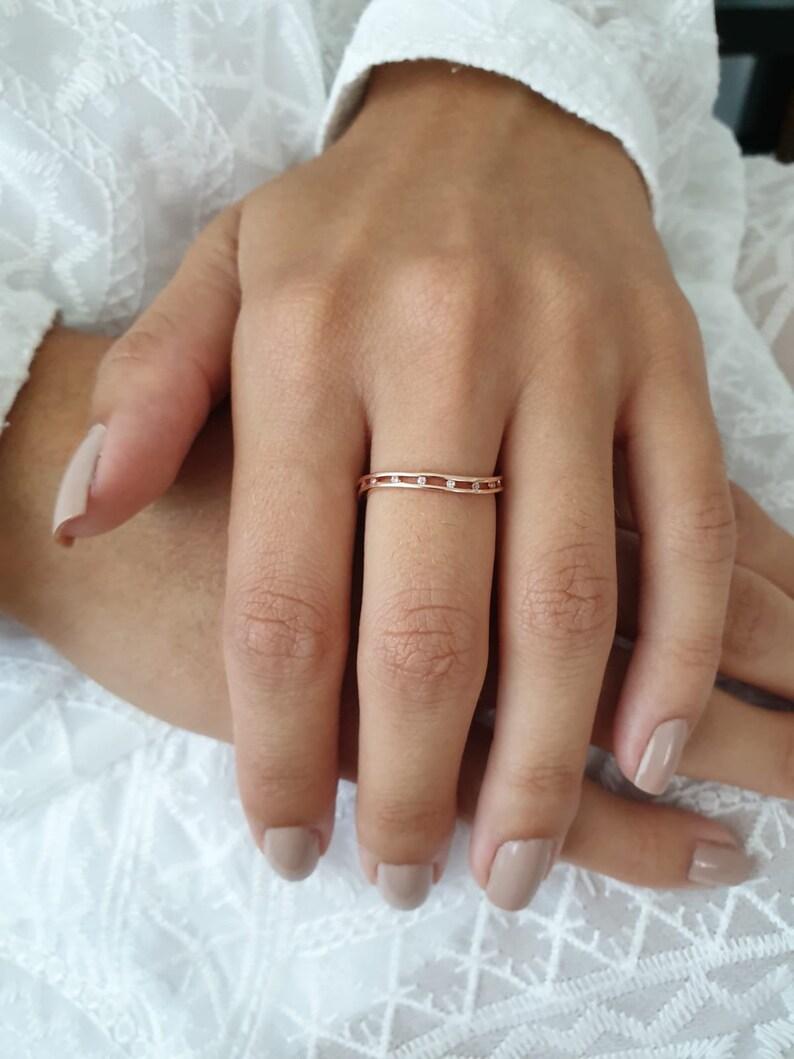 Minimalist Ring Rose Gold Minimalist Ring Rose Gold Ring Delicate Ring Belinha Diamond Ring