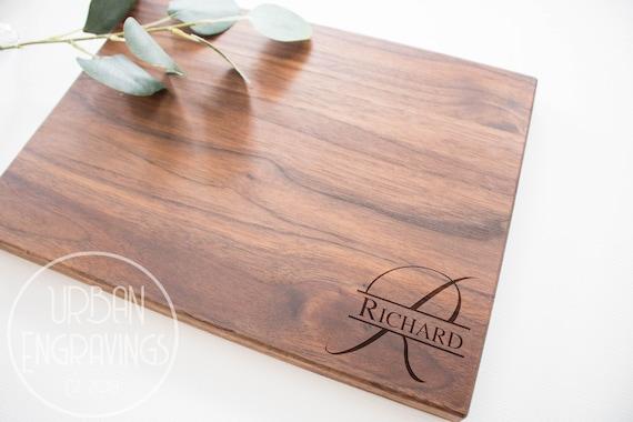 -21126-CUTB-004 Home Blessings Wedding Anniversary Housewarming White Oak Wood Custom Engraved Cutting Board Personalized Cutting Board