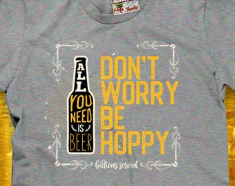 6994eb6d4e Don't worry be hoppy | Etsy
