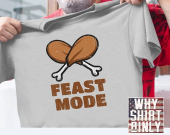 b8094f277509 funny thanksgiving shirts feast mode humorous turkey t-shirt holiday tees  family dinner t shirt mens xl 2xl 3x women youth kids hilarious