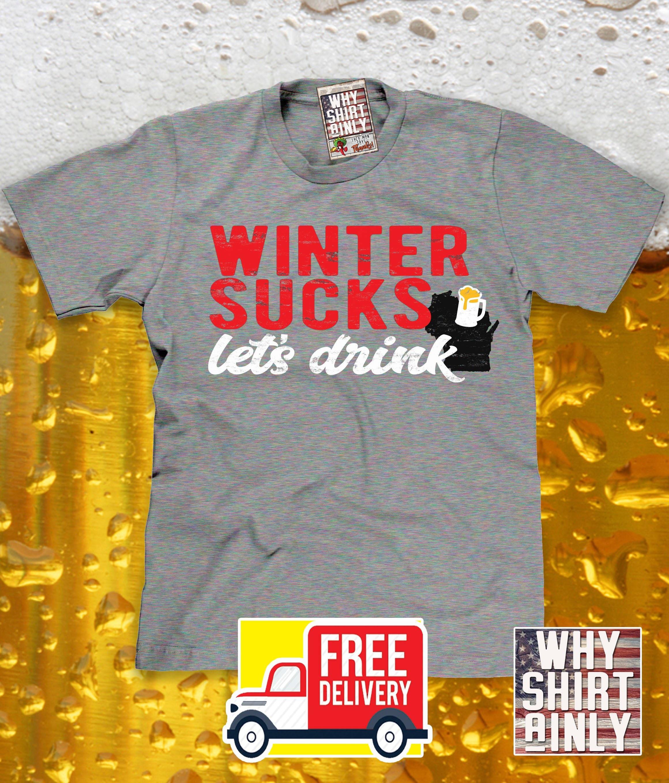 57a81c668 Wisconsin drinking shirt funny wisconsin winter t-shirt | Etsy