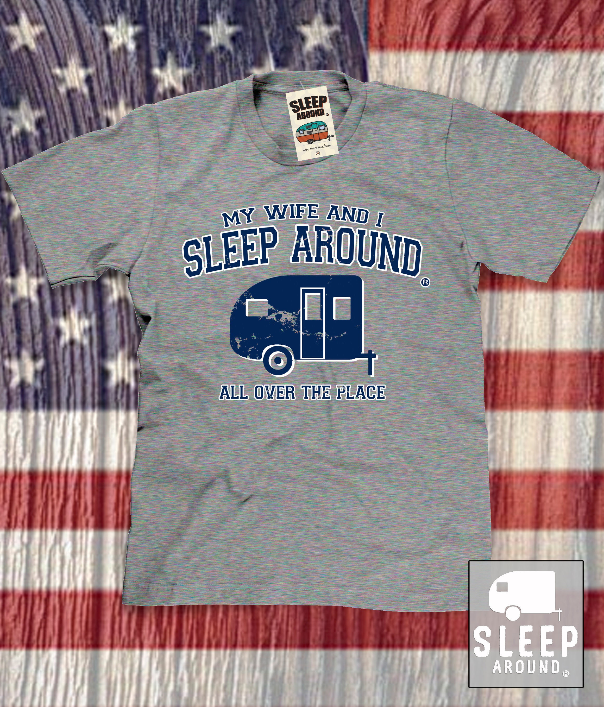 My Wife And I Sleep Around T Shirt Funny Camping Shirts For Etsy