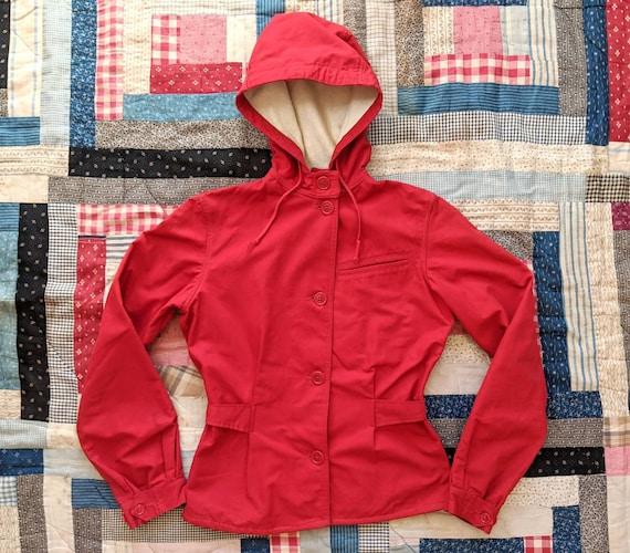 1940's 50's Hooded Jacket S Small M Medium Vintage