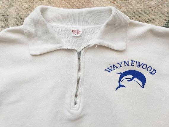 1950's 60's Quarter Zip Sweatshirt S Small XS M Me