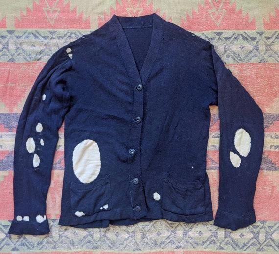 1920's 30's Women's Cotton Cardigan M Medium L Lar