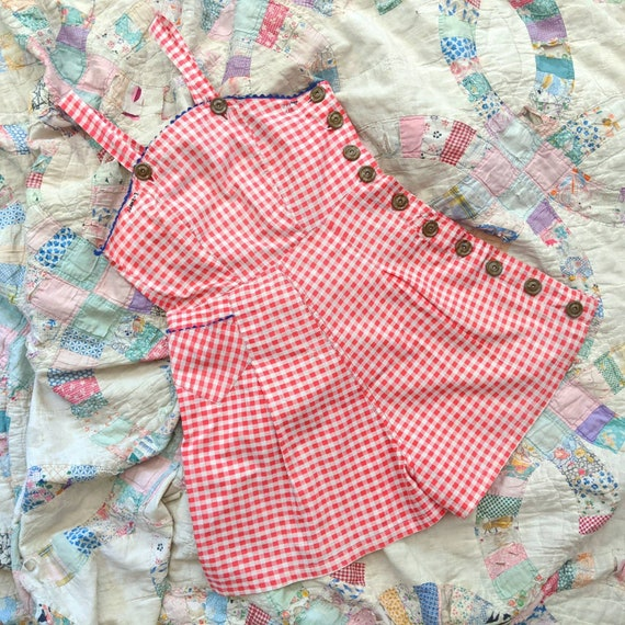 1930's Button Side Playsuit XS Extra Small Vintage