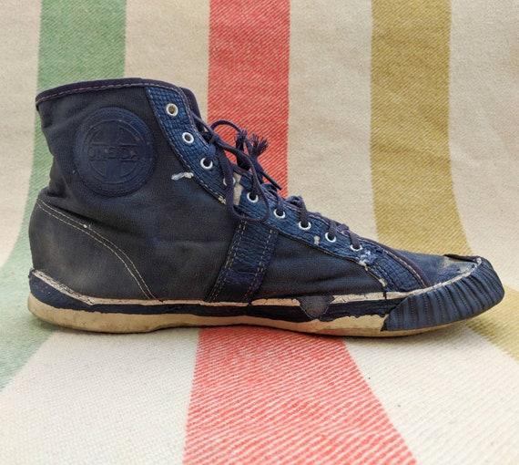 1940 S Navy Sneakers Sz 10 10 5 Men S Hi Top High Etsy