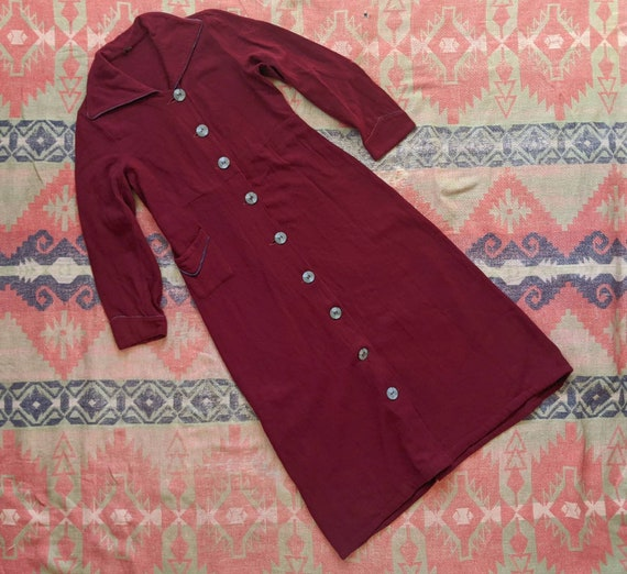1920's Wool Coat XS S Small Antique 1920s Burgundy