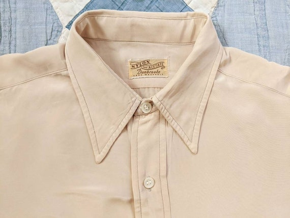 1940's Nylon Acetate Shirt M Medium L Large Vintag